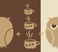 Morning coffee for owls fun creative original design by EveStock