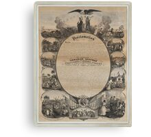 Emancipation Proclamation with Narrative Pictorial by L. Lipman (1864) Canvas Print