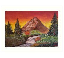 Serene Valley Sunrise Art Print