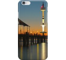 Sunset on the jetty iPhone Case/Skin