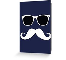Geeky Mustache Greeting Card