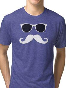 Geeky Mustache Tri-blend T-Shirt