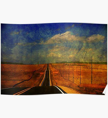 The long road to Santa Fe NM Poster