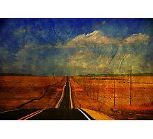 The long road to Santa Fe NM Photographic Print