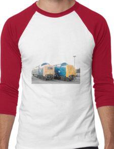 British Rail Deltic. Men's Baseball ¾ T-Shirt