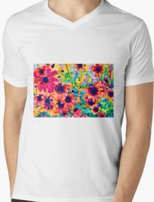 Floral Design 1 Mens V-Neck T-Shirt
