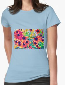Floral Design 1 Womens Fitted T-Shirt