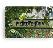 Metropolitain Canvas Print