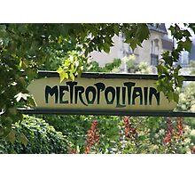 Metropolitain Photographic Print