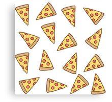 Cute Tumblr Pizza Pattern Canvas Print