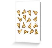 Cute Tumblr Pizza Pattern Greeting Card