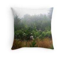 Misty Landscape - Oregon Throw Pillow