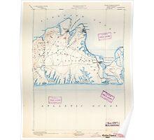 Massachusetts  USGS Historical Topo Map MA Marthas Vineyard 352838 1894 62500 Poster