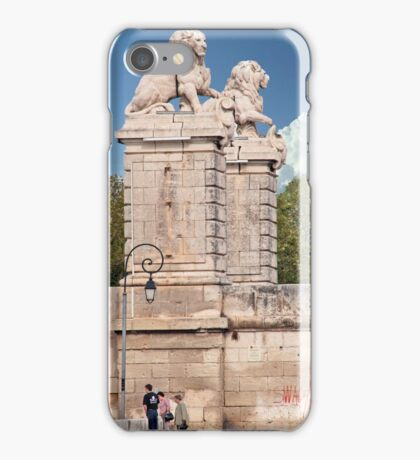 Lions Along The Saone River iPhone Case/Skin