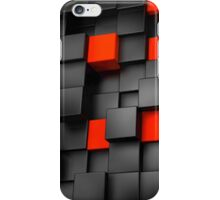 Red and Black Abstraction iPhone Case/Skin