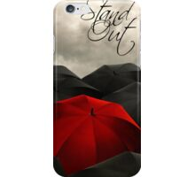 Red Umbrella Stand Out iPhone Case/Skin