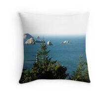 Port Orford Coast  Throw Pillow