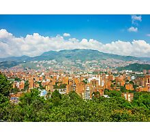 Aerial View of Medellin from Nutibara Hill Photographic Print
