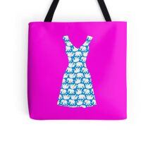 Lilly Pulitzer Inspired Dress Tusk in Sun (Blue) Tote Bag