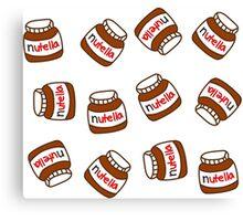 Cute Tumblr Nutella Pattern Canvas Print