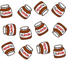 Cute Tumblr Nutella Pattern Photographic Print