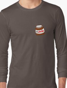 Cute Tumblr Nutella Pattern Long Sleeve T-Shirt