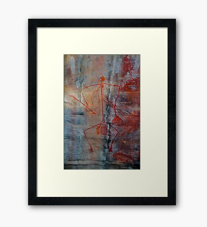 Ubirr Rock Art Framed Print