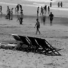Deckchairs, Crowds, Sun and Surf by Janie. D