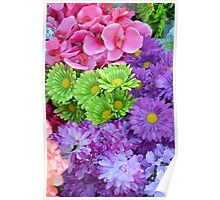 Colorful spring flowers Poster