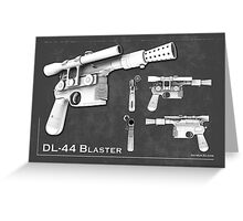 DL 44 Blaster Poster Greeting Card