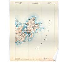 Massachusetts  USGS Historical Topo Map MA Gloucester 352700 1893 62500 Poster