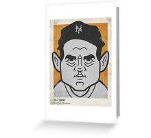 Bill Terry Caricature Greeting Card