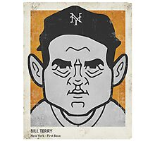 Bill Terry Caricature Photographic Print
