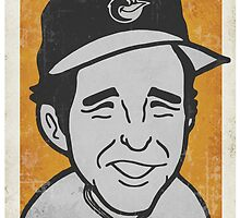 Brooks Robinson Caricature by RJCSportsArt