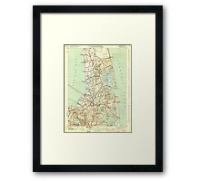 Massachusetts  USGS Historical Topo Map MA Orleans 352028 1944 31680 Framed Print