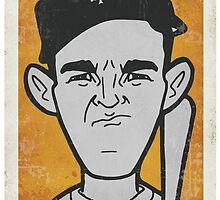 Mel Ott Caricature by RJCSportsArt