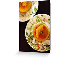 Melting orange cake Greeting Card