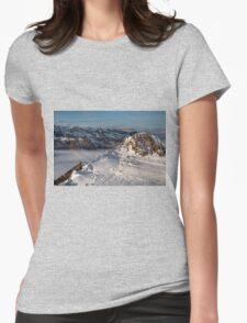 Winter on Kitzsteinhorn 8 Womens Fitted T-Shirt