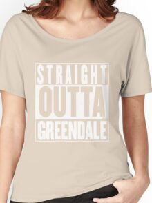STRAIGHT OUTTA GREENDALE Women's Relaxed Fit T-Shirt