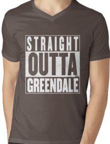 STRAIGHT OUTTA GREENDALE Mens V-Neck T-Shirt