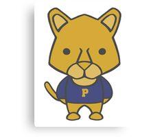 Panther Mascot Chibi Cartoon Canvas Print