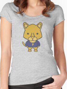 Panther Mascot Chibi Cartoon Women's Fitted Scoop T-Shirt