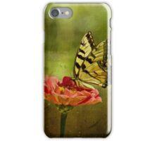 Swallowtail on Zinnia iPhone Case/Skin