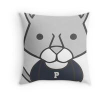 Lion Mascot Chibi Cartoon Throw Pillow