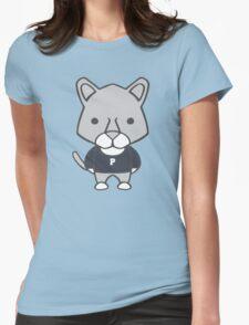 Lion Mascot Chibi Cartoon Womens Fitted T-Shirt