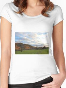 Scottish Countryside Women's Fitted Scoop T-Shirt