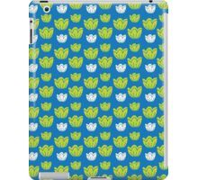 Tulips-blue iPad Case/Skin