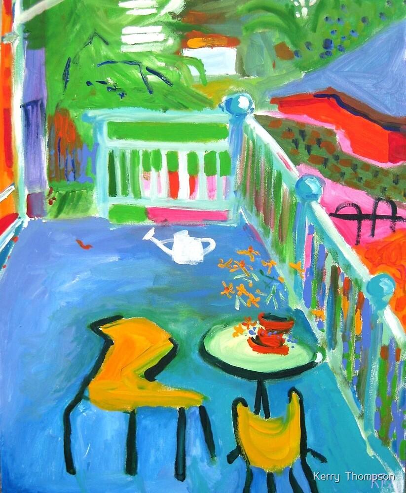 My back verandah by Kerry  Thompson