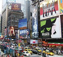 Times square New York City by Rosie Brown