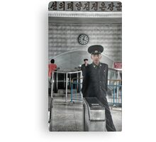 Standing Guard - DPRK Metal Print